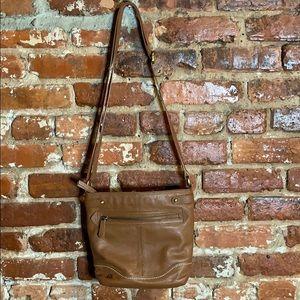 Born Crossbody Leather Bag brown